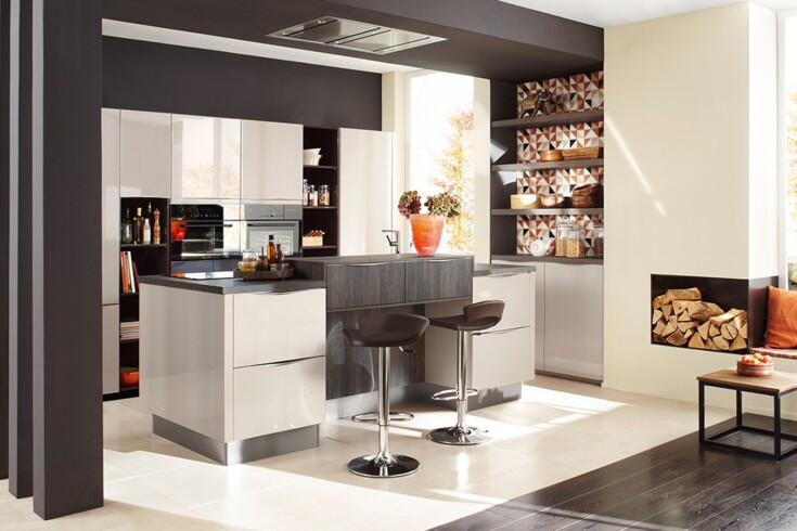 Kuchendesign Holz Moderne Luxus