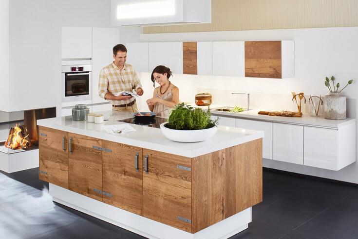 Moderne Kuchen Massivholz