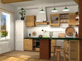 Кухонная мебель в стиле кантри — большой выбор гарнитуров