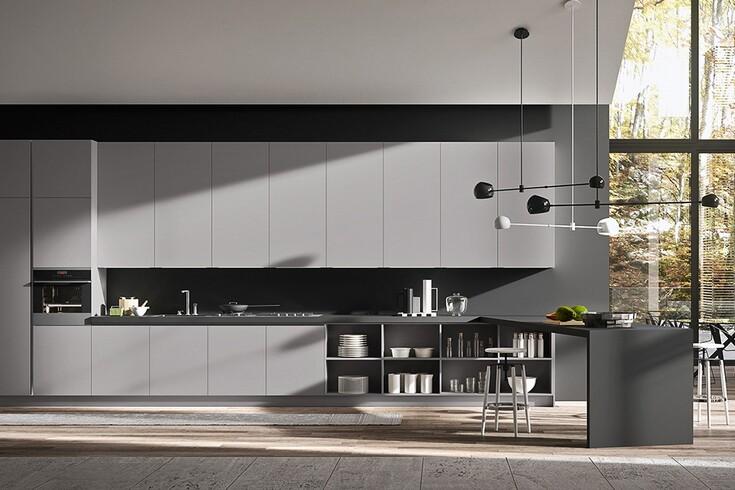 Современная итальянская кухня silkki в стиле модерн от фабрики ar