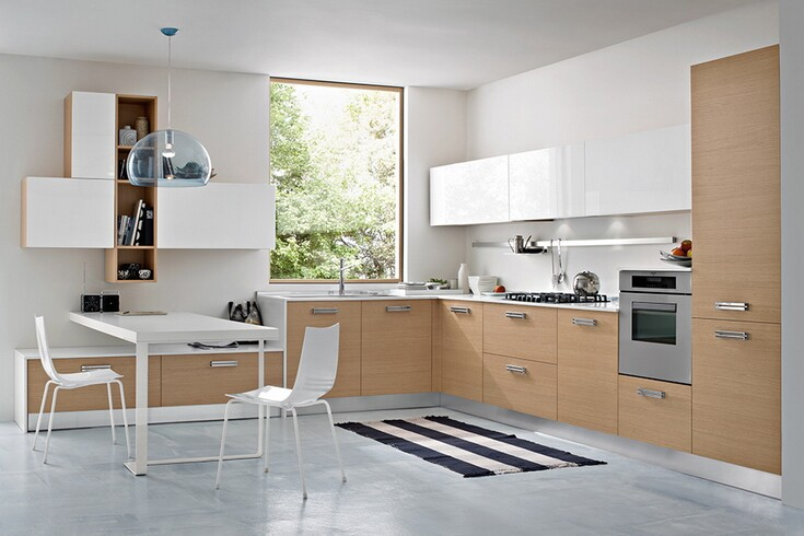 Современная итальянская кухня fly в стиле модерн от фабрики ar tre